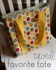 Duck cloth tote tutorial