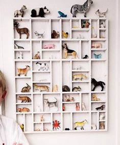 Embrace Your Child's Dreams toy storage. I've loved the idea of doing this with a type tray for a while, but never much liked the rustic look of them. Too much like Grandma's house. Painting it white solves that! Kids Storage, Toy Storage, Storage Ideas, Shelving Ideas, Shelf Ideas, Girl Room, Girls Bedroom, Bedrooms, Deco Kids