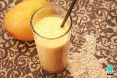 Batido de mango y avena - Beneficios y receta #RecetasGratis #Bebidas #Recetasfáciles #BebidasNaturales #BebidasRefrescantes #Batido #Avena