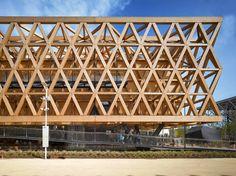 Pabellón de Chile  undurragadeves Wooden Architecture, Facade Architecture, Chile, B720, Walter Gropius, Wood Structure, Expo 2015, Building Facade, Modern Buildings