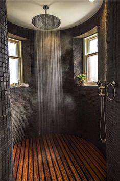 ❤ Check Out 25 Inspiring Rustic Bathroom Ideas - Traumhaus Rustic Bathrooms, Dream Bathrooms, Rustic Bathroom Designs, Wooden Bathroom, Luxury Bathrooms, Mansion Bathrooms, Country Kitchen Designs, Dyi Bathroom, Outdoor Bathrooms