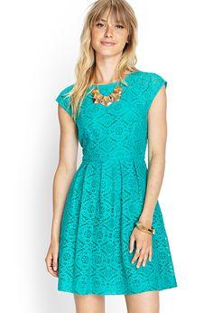 Uitlopende jurk met kant - Jurken - Nacht & Avond - 2000073721 - Forever 21 EU