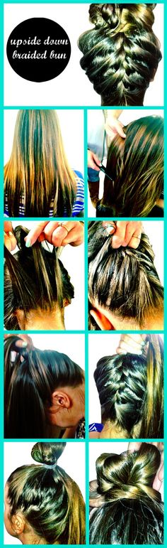 How To: Upside Down Braided Bun @Maddie Lamb Did This To Taylor Deason's Hair On Our Charter Bus On Our Way To The Choir Trip