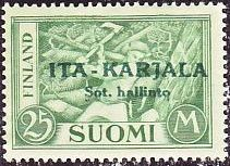 East Karelia 1941 green overprint on Finland green. Stamp Collecting, Postage Stamps, Finland, Europe, Green, Germany, Stamps