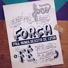 """""""Foco: um objetivo para alcançar. Força: pra nunca desistir de lutar e Fé: pra me manter em pé, enquanto eu puder."""" . Letra do @projota . #typespire #goodtype #thedailytype #thedesigntip #handlettering #lettering #typography #calligraphy #typeveryday #handmadefont #typoholic #creativity #letter #words #design #handmade #byalinealbino #projota #letrasdemúsica #focoforçaefé"""