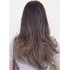 Ash brown balayage @mbhair