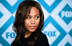 Nicole Beharie arrives at the Fox All-Star Party on January 13, 2014