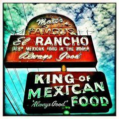 """Always Good"" -- vintage neon sign for Matt's El Rancho in Austin, Texas by MOLLYBLOCK, via Flickr"