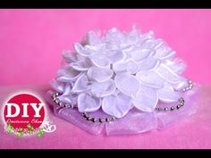 Kanzashi Dahlia Flower.The Dahlia Flower from the satin ribbon.The Dahlia Flower DIY Tutorial - YouTube