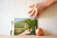 I like my Italian landscape with a little onion. Personalized Birthday GIft custom landscape by BarraganPaintings, €78.00