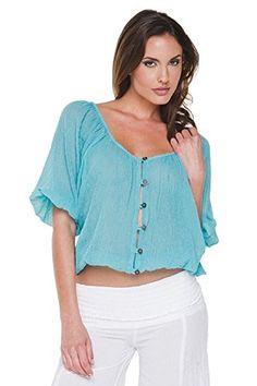 d760777cd8e9c1 ELAN Women s VN26 Top Large Teal ELAN http   www.amazon.com