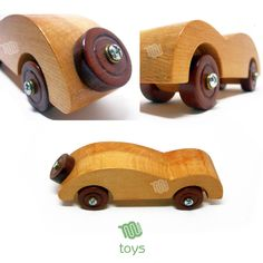 A really simple yet strong design. This toy resemble old styled cars in its shape. The car carries a spare weel on the back. The whole piece is really resistant, and can be a great toy for babies and kids! \\\ Materials: Oak, mahogany, bolts, wax finish. \\\ Dimensions: cm: altezza 6 x lunghezza 19 x profondità 6 \ inch : height 2,4 x length 7,5 x depth 2,4 \\\ Weight: 177g - 0,4 lb