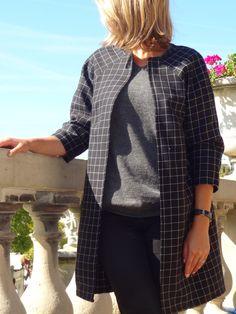 La chronique d'Aurélie //51// Chloé à carreaux #couture #sewing #manteau