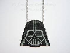 Collier Dark Vador bijou Star Wars geek perle par DoucesCreations