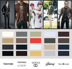 Men's fashion, color and design for 2016