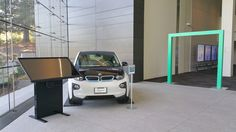 HPe's smart car and F2B's Interactive Draft Table at HP Enterprise in Palo Alto, California!