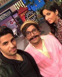 #SidharthMalhotra & #KatrinaKaif on the sets of #TheKapilSharmaShow  #BaarBaarDekho #celebrity #bollywood #bollywoodactress #bollywoodactor #actor #actress #photooftheday #picoftheday #instapic #instadaily #filmywave