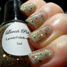 BeginNails: Every Journey Has a Beginning: Lavish Polish Christmas Collection Selected Polishes Swatch and Review  Holly Day topped with Gem Glam Top Coat from @DreamPolish swatched by @beginnails.  http://www.beginnails.blogspot.com/2014/12/lavish-polish-christmas-collection.html