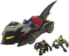Batman: The Brave and The Bold Action League Mini Batmobile Diorama Set - http://coolgadgetsmarket.com/batman-the-brave-and-the-bold-action-league-mini-batmobile-diorama-set/
