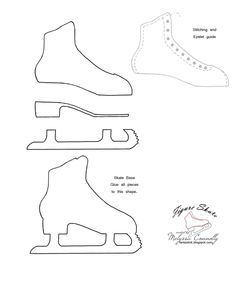 carefully crafted cuteness by Melyssa Connolly: Ice Princess and Figure Skate Template
