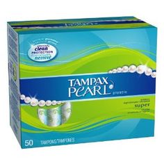 Tampax Pearl Plastic, Super Absorbency, Unscented Tampons
