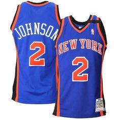 Mens New York Knicks Larry Johnson Mitchell & Ness Royal Blue 1998 Authentic Basketball Jersey