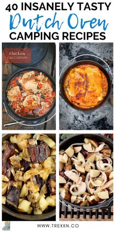 If you're looking for a fun way to feed your family while enjoying a camping trip, these 40 insanely tasty dutch oven camping recipes are for you. This is outdoor cooking at its best! From dinner and desserts to breakfast and artisan breads, there's Dutch Oven Chicken, Dutch Oven Bread, Dutch Oven Camping, Dutch Ovens, Dutch Oven Campfire Recipes, Dutch Oven Breakfast, Camping Breakfast, Dutch Oven Recipes Dessert, Dutch Oven Meals