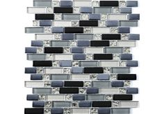 The Ripple Random Glass Mosaic is a great way of creating a modern and contemporary look in any living space be it in a Bathroom or kitchen.  This Glass mosaic can not be cut into strips to create a border as when they are cut down the sheets don't interlock. It can only be used in full sheets.