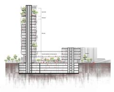 Architecture Presentation Board, Architecture Design, Architectural Section, High Rise Building, Thesis, Apartments, Buildings, Hotels, Floor Plans