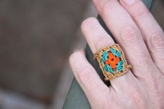Adorable and delicate #crochet granny ring from kootoyoo.com