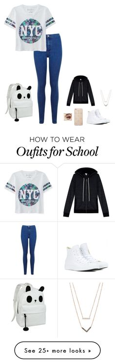 """school?"" by ashleym04 on Polyvore featuring Miss Selfridge, Aéropostale, Converse, Sonix, Michael Kors, Splendid, women's clothing, women, female and woman"