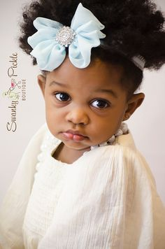 Light Blue Chiffon Bow  Bow Headband  Baby by SwankyPickleBoutique