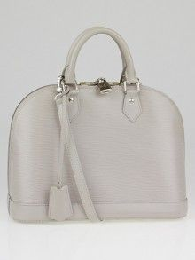 Louis Vuitton Gres Epi Leather Alma PM Bag w/ Shoulder Strap
