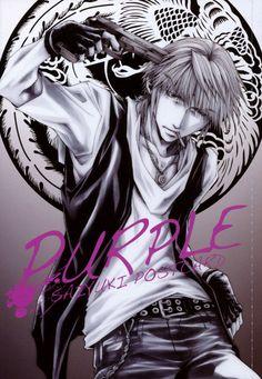 Saiyuki ~~ Color-code postcards :: Sanzo is Purple