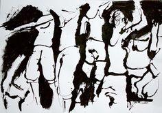 Herkkupurkki: piirros, croquis, living model By: Satu Laaninen