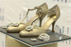 Stuart Weitzman a dessiné chaussures vieux rose surmontées de diamants pour Diablo Cody, à l'occasion des Oscars 2008.