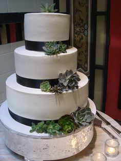King S Hawaiian Succulent Wedding Cake