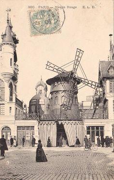 Le Moulin Rouge en 1905.