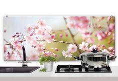 Spritzschutz Cherry Blossoms - Panorama | wall-art.de