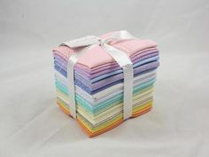 """#CraftsyDeal - ONE DAY ONLY - Get 30% off Free Spirit Essentials Solids Fat Quarters in soft shades! This deal includes one Fat Quarter Bundle with 15 fat quarters in soft solid shades until 2:00 a.m. EST, so hurry & stock up your stash before this deal is gone for good! Click """"Repin"""" to share this great deal with your friends & followers! #FabricDeal US shipping only."""