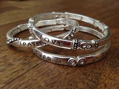 Love is Patient | Set of 3 Bracelets with 1 Corinthians 13 - This is one of my favorite bracelet sets! You can wear them all together, just one, or mix one with an arm party!