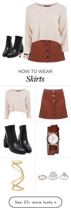 """Denim Skirt"" by heavenly4ever on Polyvore featuring Miss Selfridge, Maison Margiela, Nixon, Topshop, women's clothing, women's fashion, women, female, woman and misses"