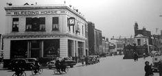 The Bleeding Horse Pub, Camden Street, Dublin. Camden Street, Dublin Street, Dublin City, Ireland Pictures, Old Pictures, Old Photos, Vintage Photos, Gone Days, Ireland Homes