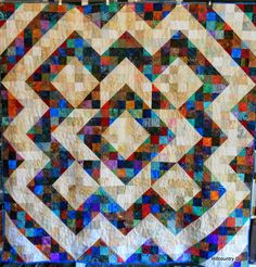 Hill Country Quilter   beautiful split nine patch.