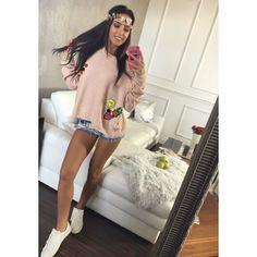 Moderní pletený svetr v růžové barvě - manozo.cz Sweaters, Dresses, Fashion, Vestidos, Moda, Fashion Styles, Sweater, Dress, Fashion Illustrations