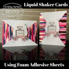 Crumpled Paper, Foam Adhesive, Cricut Explore Air, Shaker Cards, Embossing Folder, Stampin Up, Bridal Shower, Craft Projects, Greeting Cards