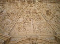 Detalle de la bóveda de la fachada occidental de la catedral de Astorga