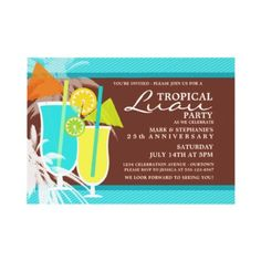 Tropical Luau Party Invitations by reflections06