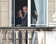 Princess Beatrice (left), Prince Andrew (centre) and Princess Eugenie (right) have also be...