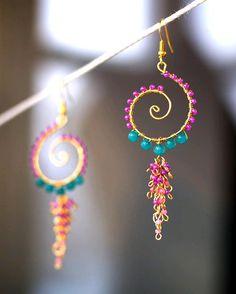 Aretes- beads earrings